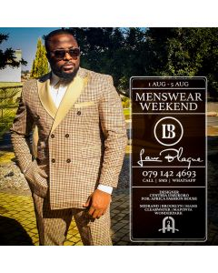 Law Blaque DB Check Suit