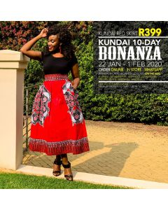 Kundai Red Skirt